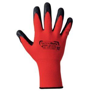 guanti filo rosso spalmati lattice